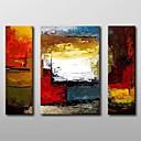baratos Pinturas Abstratas-Pintura a Óleo Pintados à mão - Abstrato Clássico Tela de pintura
