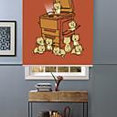 זול חוט נורות לד-Lovely Cute Cartoon Kitties Roller Shade