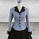 preiswerte Kigurumi Pyjamas-Mittelalterlich Viktorianisch Kostüm Damen Austattungen Vintage Cosplay Baumwolle Langarm Normallänge
