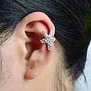 tanie Naklejki ścienne-Damskie Ear Cuffs - Kryształ górski, Imitacja diamentu Gwiazda Luksusowy Srebrny Na Ślub Impreza Codzienny