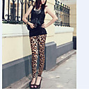 preiswerte Körperschmuck-Damen Seide Legging - Leopard-Druck Mittlere Taillenlinie