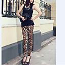 billige Mote Halskjede-Dame Silke Tights - Leopardprint Medium Midje