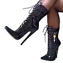 ieftine Ghete de Damă-Pentru femei Pantofi PU Primăvară / Toamnă Toc Stilat 20.32-25.4 cm / Cizme / Cizme la Gleznă Negru / Alb / Party & Seară