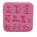 cheap Bakeware-Bakeware tools Silicone Eco-friendly / 3D / DIY For Cake / For Cookie / For Chocolate Animal Mold 1pc