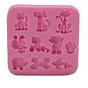 abordables Accesorios de Aseo para Perro-Herramientas para hornear Silicona Ecológica / 3D / Manualidades Pastel / Galleta / Chocolate Animal Molde para hornear 1pc