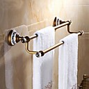 cheap Mugs & Cups-Towel Bar High Quality Antique Brass Crystal Ceramic 1 pc - Hotel bath 2-tower bar