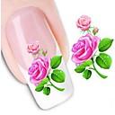 billige Dekaler-1 pcs 3D Negle Stickers Vandoverførings klistermærke Negle kunst Manicure Pedicure Blomst / Bryllup / Mode Daglig / 3D Nail Stickers
