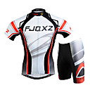 cheap Cycling Jersey & Shorts / Pants Sets-FJQXZ Men's Short Sleeve Cycling Jersey with Shorts - White Bike Clothing Suit Windproof Breathable 3D Pad Quick Dry Ultraviolet Resistant Sports Mesh Curve Mountain Bike MTB Road Bike Cycling