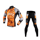 cheap Cycling Jersey & Shorts / Pants Sets-FJQXZ Men's Long Sleeve Cycling Jersey with Tights Camouflage Bike Clothing Suit, Windproof, Breathable, 3D Pad, Thermal / Warm, Quick Dry Mesh Camouflage / Ultraviolet Resistant