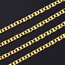 cheap Men's Necklaces-Men's Chain Necklace - Gold Plated Gold Necklace For Christmas Gifts, Party