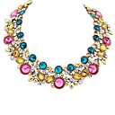 cheap Earrings-Women's Bib Statement Necklace - European Black, Blue, Rainbow Necklace For