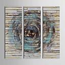 Χαμηλού Κόστους Βεντάλιες και Ομπρέλες-Ζωγραφισμένα στο χέρι Αφηρημένο Κάθετη Πανοραμική Καμβάς Hang-ζωγραφισμένα ελαιογραφία Αρχική Διακόσμηση Τρίπτυχα