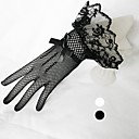 cheap Party Gloves-Polyester / Tulle Wrist Length Glove Classical / Bridal Gloves With Solid