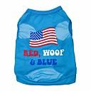 abordables Calcomanías de Uñas-Gato Perro Camiseta Ropa para Perro Letra y Número Azul Terileno Disfraz Para mascotas
