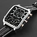 저렴한 사용자 정의 시계-개인 선물 시계, 쓰리 타임 존 아날로그 석영 일본 쿼츠 시계 With 합금 케이스 재질 가죽 밴드 밀리터리 시계 방수 깊이
