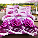 cheap 3D Duvet Covers-Duvet Cover Sets 3D Polyester Reactive Print 4 Piece