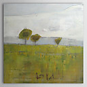 cheap Oil Paintings-Oil Painting Hand Painted - Landscape Comtemporary Stretched Canvas