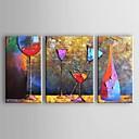 billige Oljemalerier-Hang malte oljemaleri Håndmalte - Abstrakt Tradisjonell Moderne Inkluder indre ramme / Tre Paneler / Stretched Canvas