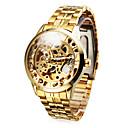preiswerte Customized Uhren-Personalisierte Geschenke Beobachten, Transparentes Ziffernblatt Mechanische Uhren Beobachten With Legierung Gehäuse-Material Stehlen Band