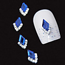 cheap Rhinestone & Decorations-10pcs blue marquise 3d rhinestone diy alloy accessories nail art decoration