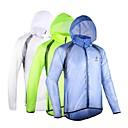 cheap Necklaces-Arsuxeo Men's Cycling Jacket Bike Raincoat Waterproof, Windproof, Anatomic Design Polyester, Spandex, Fleece White / Blue / Light Green
