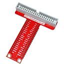 hesapli Motherboards-Ahududu pi b + tip-t GPIO genişletme kartı aksesuarı - kırmızı