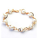 cheap Bakeware-Women's Pearl Strand Bracelet - Pearl, Crystal, Imitation Pearl Simple Style Bracelet Silver / Golden For Wedding / Party / Daily / Gold Plated