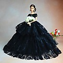 cheap Apparel For Barbie-Party/Evening Dresses For Barbie Doll Lace Organza Dress For Girl's Doll Toy