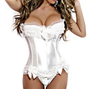 hesapli Korseler-Korse Sweet Lolita Prenses Lolita Beyaz / Siyah Saten Kostümler