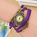 cheap Bracelet Watches-Women's Quartz Wrist Watch Bracelet Watch Hot Sale Fabric Band Vintage Purple