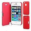 abordables Anillos-Funda Para iPhone 5 / Apple Funda iPhone 5 Flip / Magnética Funda de Cuerpo Entero Un Color Dura Cuero de PU para iPhone SE / 5s / iPhone 5