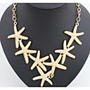 cheap Religious Jewelry-Statement Necklace - Starfish European, Fashion Silver, Golden Necklace 1pc For Wedding, Party, Daily
