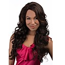 cheap Human Hair Wigs-Synthetic Wig Curly Layered Haircut / With Bangs Synthetic Hair Waterfall Brown Wig Women's Long Full Lace