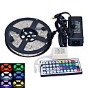 cheap Car Headlights-5m Flexible LED Light Strips 300 LEDs 5050 SMD RGB Waterproof