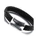 cheap Bakeware-Men's Leather Bracelet / Magnetic Bracelet - Stainless Steel, Leather Punk Bracelet Black For Casual