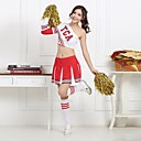 baratos Roupas Infantis de Dança-Fantasias para Cheerleader Roupa Mulheres Treino Espetáculo Algodão Poliéster Natural