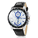 cheap Dress Watches-Men's Wrist Watch Casual Watch PU Band Charm / Dress Watch Black / White / Brown