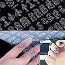billige Strass og dekorasjoner-1 pcs 3D Negle Stickers Neglekunst Manikyr pedikyr Blomst / Mote Daglig / 3D Nail Stickers