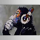 povoljno Slike sa životinjskim motivima-Hang oslikana uljanim bojama Ručno oslikana - Životinje Klasik Tradicionalno Moderna Uključi Unutarnji okvir / Prošireni platno