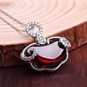 cheap LED Globe Bulbs-Women's Pendant Necklace Synthetic Gemstones Sterling Silver Silver Necklace Jewelry For Wedding Daily Casual