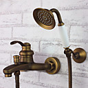 cheap Shower Faucets-Shower Faucet - Antique Antique Brass Tub And Shower Ceramic Valve