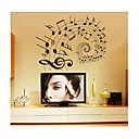 cheap Wall Stickers-Shapes Cartoon Music Wall Stickers Plane Wall Stickers Decorative Wall Stickers, PVC Home Decoration Wall Decal Wall