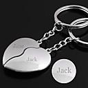 Χαμηλού Κόστους Ψεύτικες Βλεφαρίδες-Εξατομικευμένη Χαραγμένο δώρο ένα ζευγάρι καρδιά σχήμα Lover Keychain