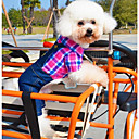 halpa Koiran vaatteet-Koira Asut Haalarit Koiran vaatteet Farkut Ruusu Vihreä Puuvilla Asu Lemmikit Miesten Naisten Rento/arki Cosplay