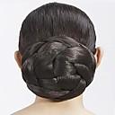 זול קוקו-חום / זהב בהיר / חום כהה קלסי גולגול תסרוקת גבוהה שיער סינטטי חתיכת שיער הַאֲרָכַת שֵׂעָר קלסי יומי