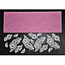 billige Bakeredskap-fire-c dekorere forsyninger silikon baking matte sukker blonder mold for design, silikon mat fondant kake verktøy fargen rosa