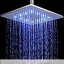 abordables Utensilios de cocina-Ducha lluvia Contemporáneo LED Latón Cromo