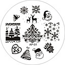 cheap Nail Stamping-nail art stamp stamping image template plate ap series no 1