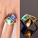 cheap Rings-Women's Statement Ring - Crystal, Gold Plated, Alloy Fashion Blue For Wedding / Party / Daily / Casual / Sports