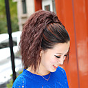 cheap Synthetic Lace Wigs-Micro Ring Hair Extensions Ponytails Synthetic Hair Hair Piece Hair Extension Wavy